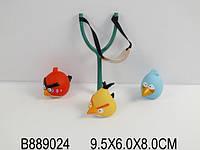 Рогатка с резиновыми птичками Angry birds 3шт.