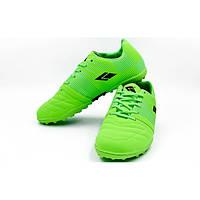 Обувь футбольная сороконожки цвет Салатовый, Черный, Белый, Голубой