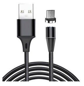 Кабель Fabric Magnetic USB to MicroUSB 1m (black)