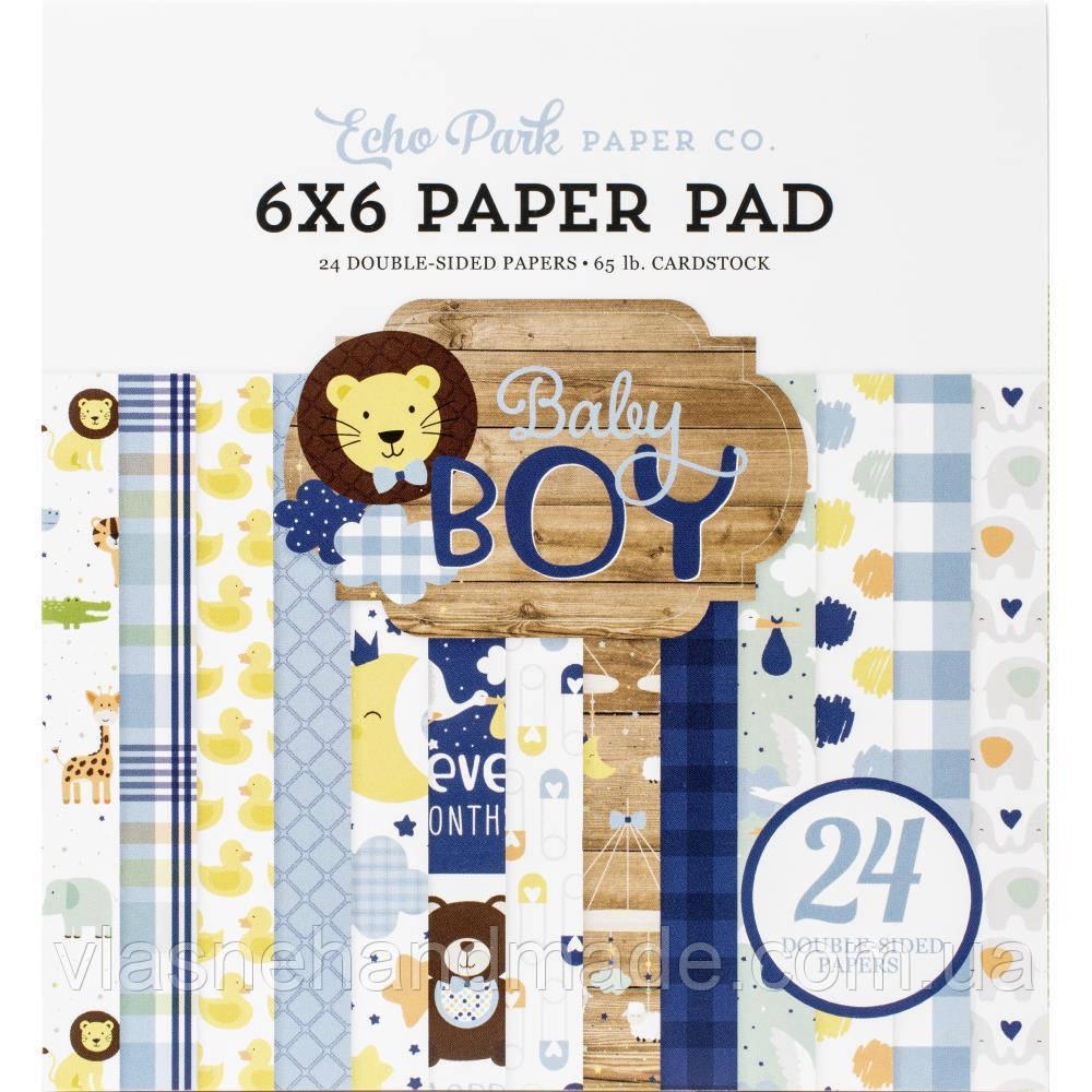 Набір двостороннього паперу - Baby Boy - Echo Park - 15х15 Ціна за пів набору!!!