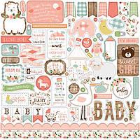 Наклейки - Baby Girl - Echo Park - 30х30