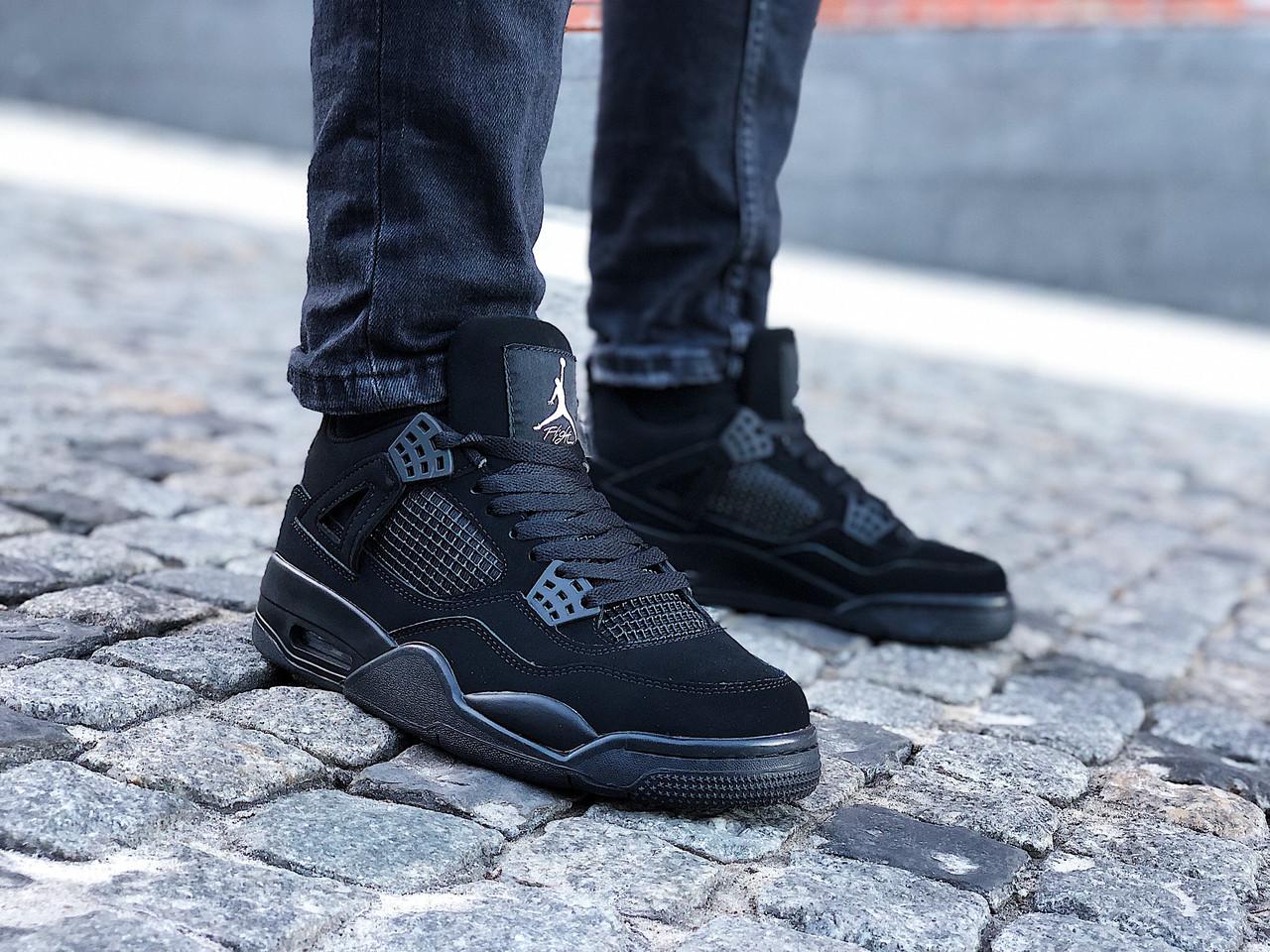 """Кроссовки мужские Air Jordan 4 Retro """"Black Cat"""" (Размеры:42,44,46)"""