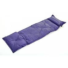 Килимок самонадувающийся з подушкою Record синій
