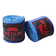 Бинт боксерский 3м, Venum, пара, синий, черный, фото 7