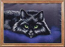 Схема для вышивки бисером Черный кот КС-014
