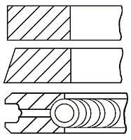 Комплект колец на поршень OPEL ASTRA F (T92) / OPEL VECTRA A (J89) 1984-2009 г.