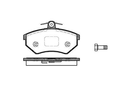 Тормозные колодки, к-кт. VW VENTO (1H2) / SEAT INCA (6K9) / VW PASSAT (32B) 1979-2016 г.