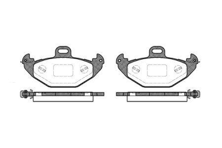 Тормозные колодки, к-кт. RENAULT LAGUNA I (B56_, 556_) 1993-2002 г.