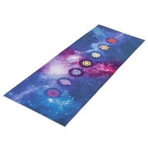 Коврик для йоги с рисунком 173 х 61 х 0,3 см синий