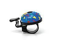 Звонок велосипедный детский, синий, BRAVVOS BEL001