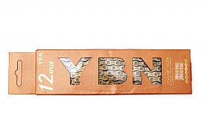 Цепь YBN S12 Ti-N Gold (12 скоростей) с замком