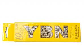 Цепь YBN SLA-H10 Gold (10 скоростей) с замком, золотая