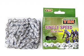 Цепь для велосипеда YBN S410 brown, односкоростная (Single Speed) 116 звеньев