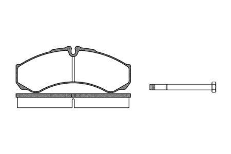 Тормозные колодки, к-кт. IVECO DAILY VI Фургон 1978-2014 г.