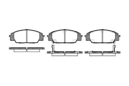 Тормозные колодки, к-кт. HONDA S2000 (AP) / HONDA CIVIC VII купе (EM2) 1999-2006 г.