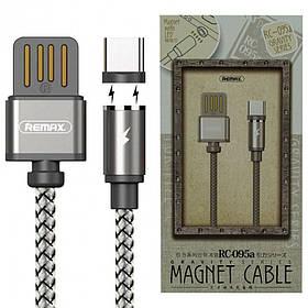 Магнитный USB кабель Remax (OR) Gravity RC-095a Type-C серый. 1м