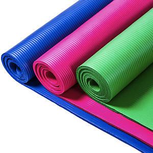 Коврик для фитнеса йоги 180х 60 см разные цвета