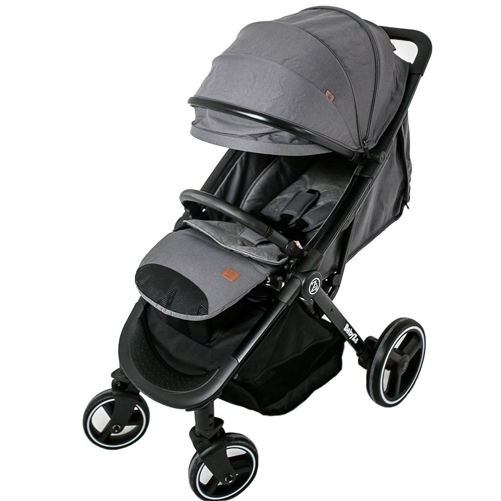 Детская прогулочная коляска BABYZZ B100. Доставка бесплатная серый