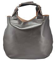 Женская кожаная сумка Zara коричневая