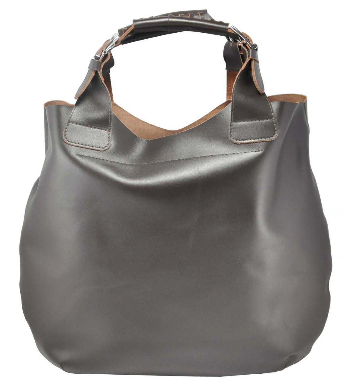 17e93feb3063 Женская кожаная сумка Zara коричневая - Интернет магазин