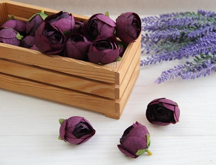 Ранункулюс бутон № 2  ,    темно -фиолет                  100 шт
