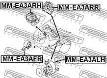 Подушка двигателя левая DODGE STRATUS 1994-2001 г.