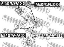 Подушка двигуна ліва DODGE STRATUS 1994-2001 р.