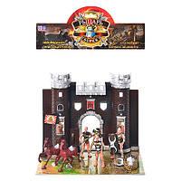 Набор рыцарей YT 1012 (72шт) замок,фигурки 2шт,лошади 2шт,игровое поле, в кульке, 35-28-6см
