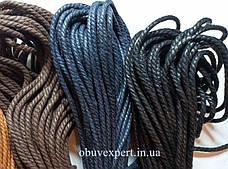 Шнурки обувные вощенные Веревка, d=4 мм,цв. в ассортименте, фото 2