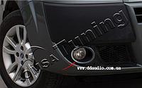 Защитная окантовка противотуманных фар Fiat Doblo 2006+ (2 шт)