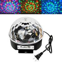 Диско куля LED Ball Light з MP3 пульт флешка, фото 1