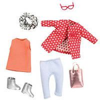 Красное пальто с узором, одежда для кукол, Lori (LO30014Z)