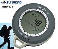 Цифровой компас SR108N (8 в 1): метеостанция, термометр, барометр, альтиметр, часы, компас