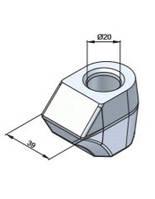 Резцедержатель (державка, посадкове під зуби) 20 мм