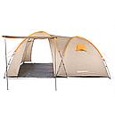 Палатка туристична чотиримісна КЕМПІНГ Tougether 4PE, бежева (420х250х160/180см), фото 3