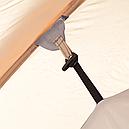 Палатка туристична чотиримісна КЕМПІНГ Tougether 4PE, бежева (420х250х160/180см), фото 10