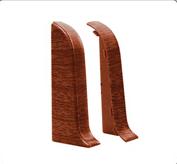 Левая заглушка - комплектующие для плинтус напольный с кабель каналом 55 мм  коллекции Комфорт Идеал