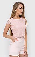 Эксклюзивный молодежный женский топ блуза с кружева в разных цветах