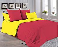 Двуспальный комплект. Красно-желтое постельное постельное белье