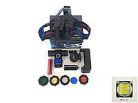 Аккумуляторный налобный фонарик BL-588 (10000W) Диод CREE-Т6 Велофара