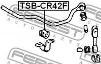 Втулка стабилизатора TOYOTA TUV (KF_, LF_) / TOYOTA LAND CRUISER 80 (_J8_) 1990-2007 г.