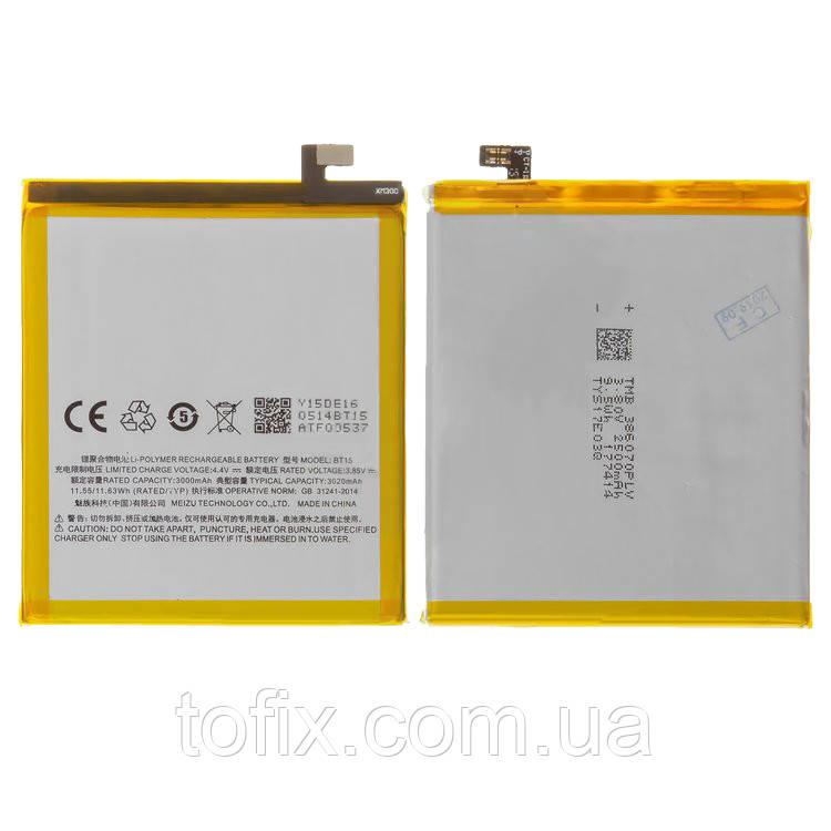 Аккумулятор (АКБ, батарея) BT15 для Meizu M3s (M3s mini), Li-Polymer, 3,85 В, 3020 мАч, оригинал