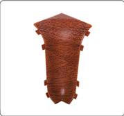 Внутренний угол - комплектующие для плинтус напольный с кабель каналом 55 мм  коллекции Комфорт Идеал