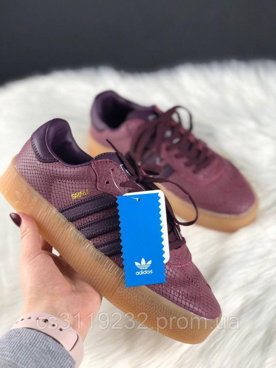 Жіночі кросівки Adidas Samba Rose Red (фіолетовий)
