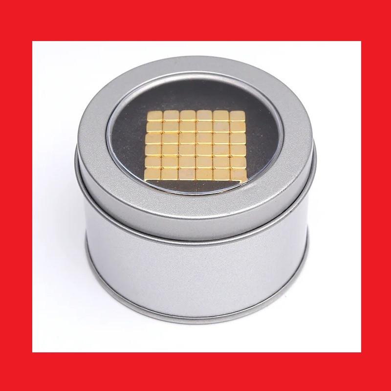Неокуб квадратний Neocube 216 кубиків 5мм в металевому боксі (Золотий)