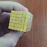 Неокуб квадратний Neocube 216 кубиків 5мм в металевому боксі (Золотий), фото 2