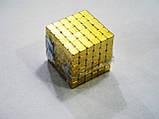 Неокуб квадратний Neocube 216 кубиків 5мм в металевому боксі (Золотий), фото 6