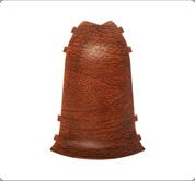 Наружный угол - комплектующие для плинтус напольный с кабель каналом 55 мм  коллекции Комфорт Идеал