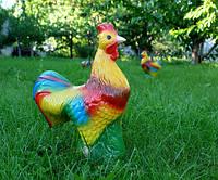 Петух - керамическая садовая фигура для сада