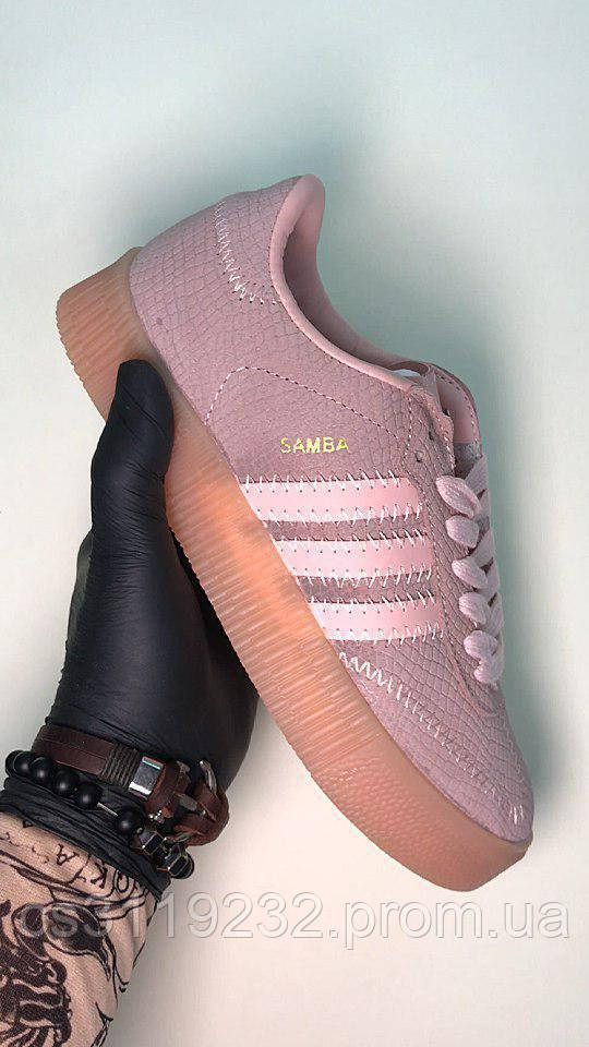 Женские кроссовки Adidas Samba Pink (розовый)